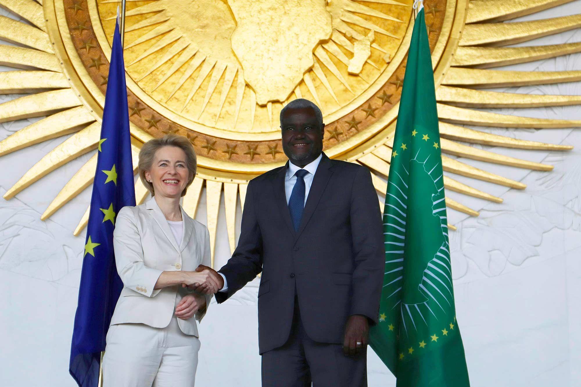 Ursula Von Der Leyen et Moussa Faki Mahamat