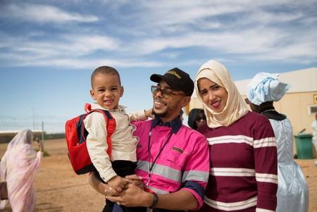 Employé de Tasiast accompagné de sa famille lors d'une visite de la mine_Crédit Photos TMLSA 2019